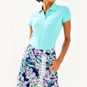 Lilly Pulitzer Blue Island Polo Small